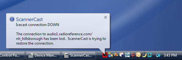 ScannerCast Warning
